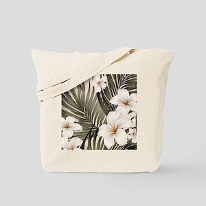 Hibiscus Hawaii Retro Aloha Print Tote Bag