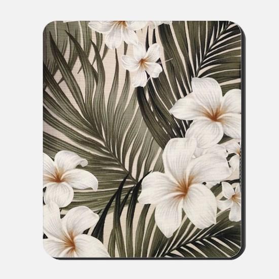 Hibiscus Hawaii Retro Aloha Print Mousepad