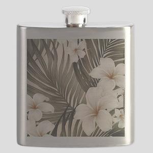 Hibiscus Hawaii Retro Aloha Print Flask