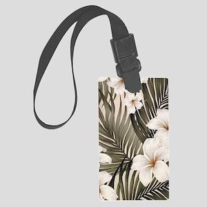 Hibiscus Hawaii Retro Aloha Prin Large Luggage Tag