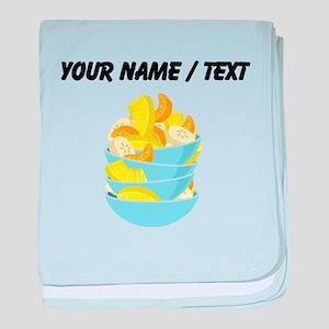 Custom Fruit Salad baby blanket