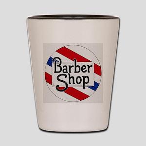 Vintage Barbershop Logo Shot Glass