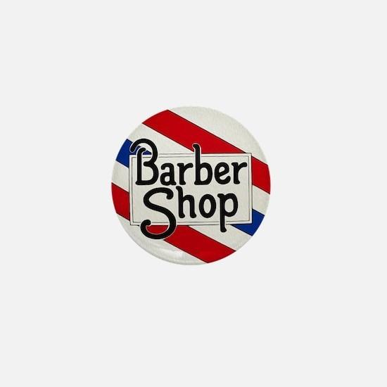 Vintage Barbershop Logo Mini Button
