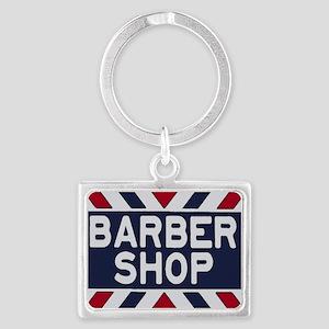 Old Time Barbershop Landscape Keychain