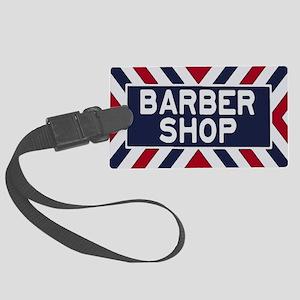 Old Time Barbershop Large Luggage Tag