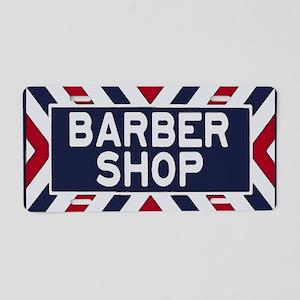 Old Time Barbershop Aluminum License Plate