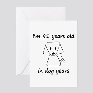 13 dog years 6 - 2 Greeting Cards