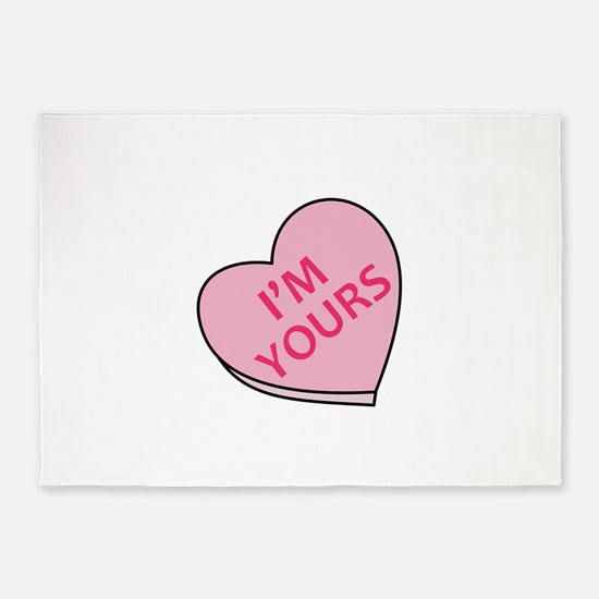 IM YOURS CANDY HEART 5'x7'Area Rug