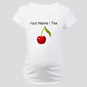 Custom Cherry Maternity T-Shirt