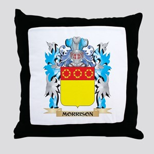 Morrison Coat of Arms - Family Crest Throw Pillow