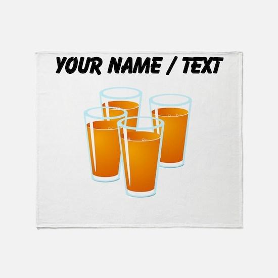 Custom Orange Juice Throw Blanket