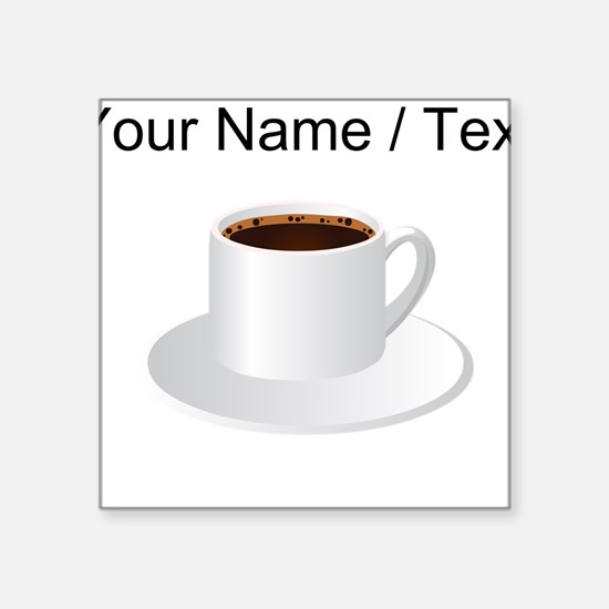 Custom Coffee Sticker