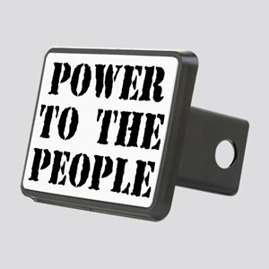 Power To The People Rectangular Hitch Cover
