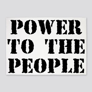 Power To The People 5'x7'area Rug