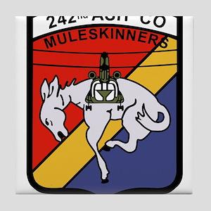 242nd ASH Company Muleskinners Tile Coaster