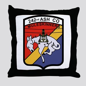 242nd ASH Company Muleskinners Throw Pillow