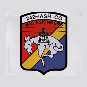 242nd ASH Company Muleskinners Throw Blanket