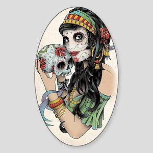 Gypsy Rose Sticker (Oval)