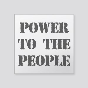 Power To The People Sticker