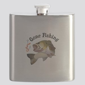 GONE FISHING Flask