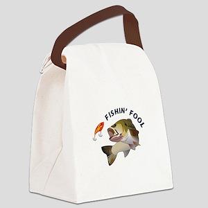 FISHIN FOOL Canvas Lunch Bag