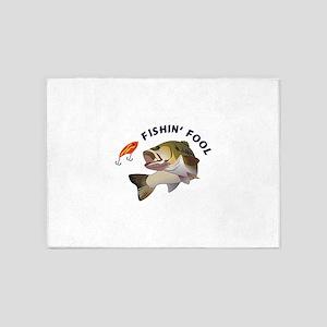 FISHIN FOOL 5'x7'Area Rug