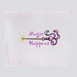 MAGIC HAPPENS Throw Blanket