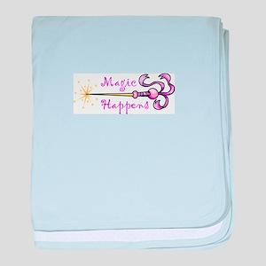 MAGIC HAPPENS baby blanket