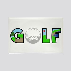 GOLF BALL MONTAGE Magnets