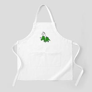 Unicorn Riding Triceratops Apron