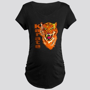 Karate with Tiger Maternity Dark T-Shirt
