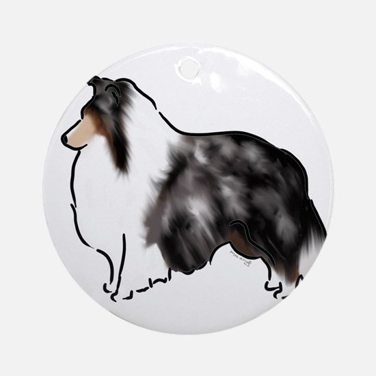shetland sheepdog blue merle Ornament (Round)