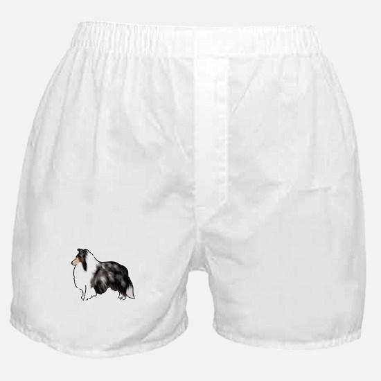 shetland sheepdog blue merle Boxer Shorts