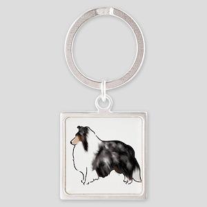 shetland sheepdog blue merle Keychains