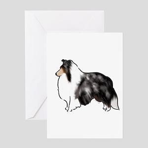 shetland sheepdog blue merle Greeting Cards
