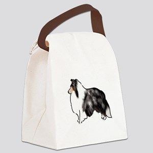shetland sheepdog blue merle Canvas Lunch Bag