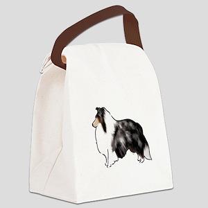 shetland sheepdog blue merle Canvas Lunch Bag