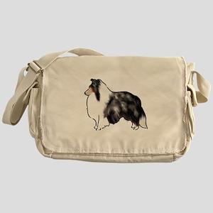 shetland sheepdog blue merle Messenger Bag