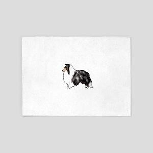 shetland sheepdog blue merle 5'x7'Area Rug