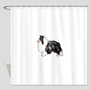 shetland sheepdog blue merle Shower Curtain