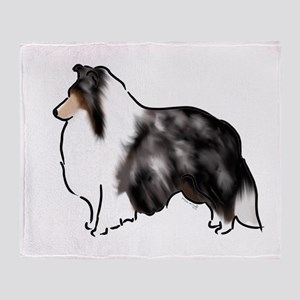 shetland sheepdog blue merle Throw Blanket