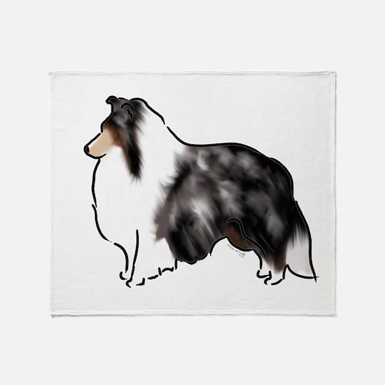 shetland sheepdog blue merle Throw Blanket