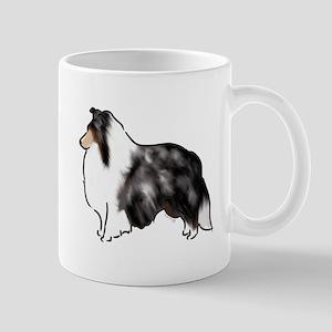 shetland sheepdog blue merle Mugs