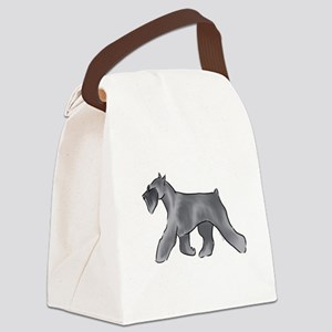 schnauzer Canvas Lunch Bag