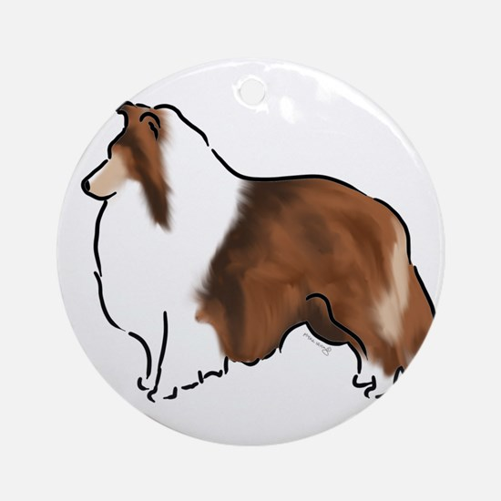 sable sheltie Ornament (Round)
