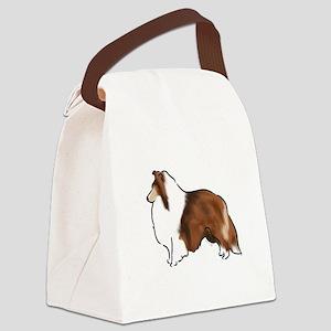 sable sheltie Canvas Lunch Bag