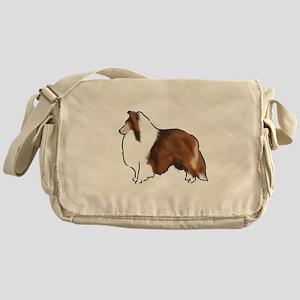 sable sheltie Messenger Bag