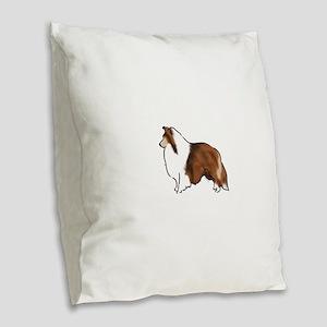 sable sheltie Burlap Throw Pillow