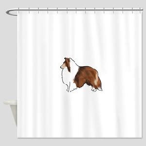 sable sheltie Shower Curtain