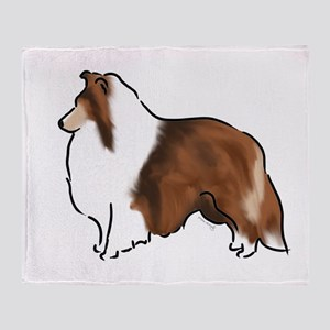 sable sheltie Throw Blanket